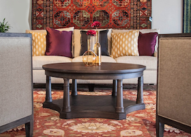 rug in a living room