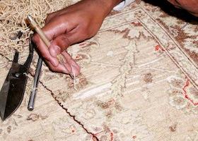 rug being restored