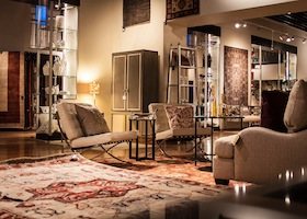 the showroom of Ibraheem's Rugs and Furnishing