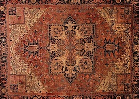 brown handmade rug