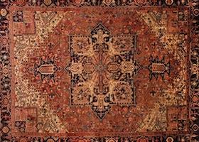 brown handmade rug