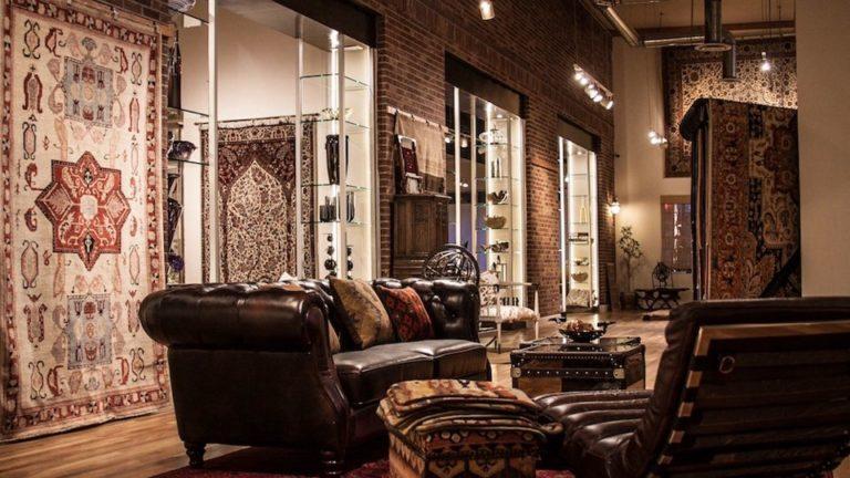 oriental rugs displayed at Ibraheems 636 S Broadway Denver, CO 80209 Showroom