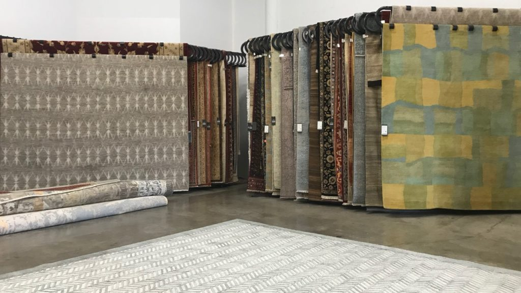 Ibraheems 5090 Acoma St, Denver, CO 80216 Showroom showing fine rugs