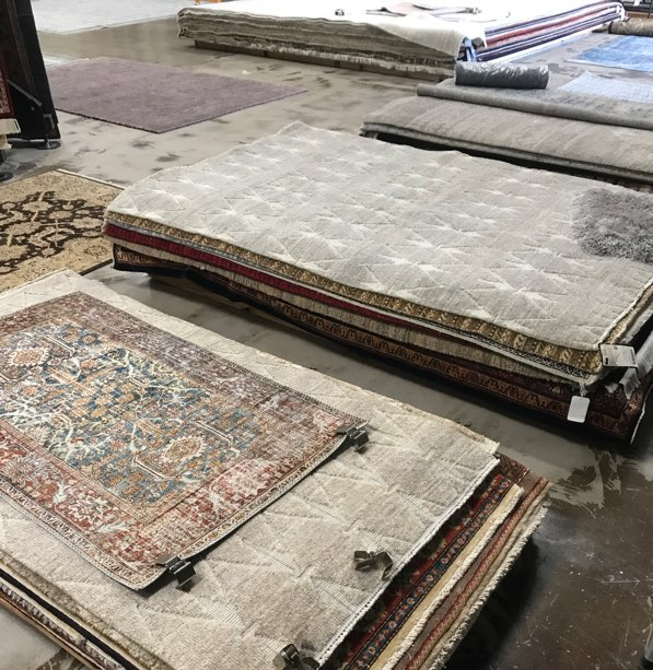 Ibraheems 5090 Acoma St, Denver, CO 80216 Showroom showing contemporary rugs