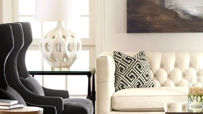 table lamps and furniture